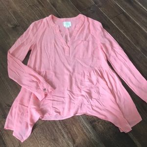 Anthropologie Maeve light peach blouse - sz 4